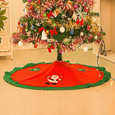 홈 스트레이트 에지 90cm 부직포 크리스마스 트리 스커트 앞치마에 대한 decoracion 스 Navidad 크리스마스 장식