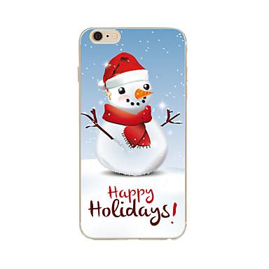 Case Kompatibilitás Apple iPhone X iPhone 8 Plus iPhone 7 iPhone 6 iPhone 5 tok Minta Hátlap Karácsony Puha TPU mert iPhone X iPhone 8