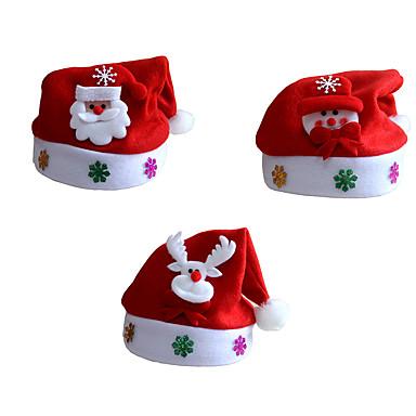크리스마스 파티 의상 장식 3PCS / 많은 남녀 성인 자녀 산타 클로스 크리스마스 크리스마스 모자 산타 모자