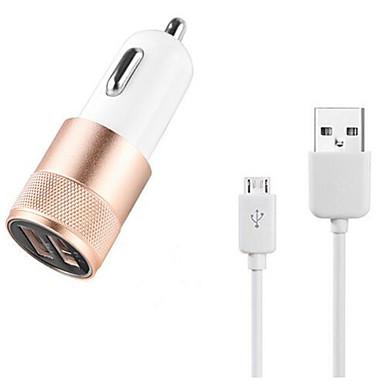 Töltő szett / Multi portok Autós töltő Other 2 USB port Kábel Mert Mobil(5V , 2.1A)