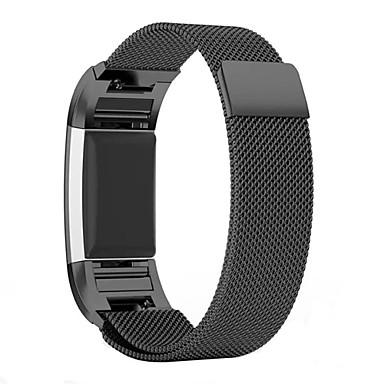 블랙 / 로즈 / 골드 / 실버 스테인레스 스틸 밀라노 루프 용 핏빗 손목 시계 20mm