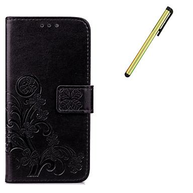 Case Kompatibilitás Samsung Galaxy S7 edge S7 Pénztárca Kártyatartó Állvánnyal Teljes védelem Tömör szín Kemény Műbőr Bőr mert S7 edge S7