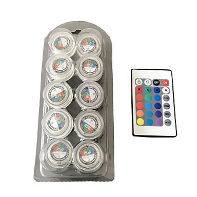 방수 둥근 촛불 빛 / rgb / 풀 컬러 led 조명 1box 10pcs