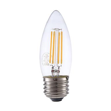 3.5 E26/E27 Izzószálas LED lámpák B 4 COB 350 lm Meleg fehér Állítható V 1 db.