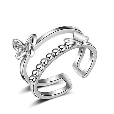 Női Karikagyűrűk Ujjperc gyűrű Multi-módon kell viselni jelmez ékszerek Sexy Crossover Divat Állítható Imádni való Ezüst Ékszerek