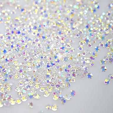 120pcs ragyog flatback / nyolcszög alakú köröm díszítés csillogó strasszos 3d kristály tiszta SS3 ab gyémánt