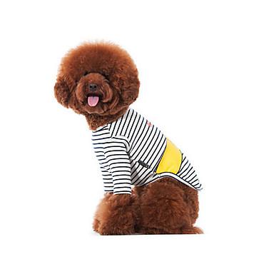 강아지 티셔츠 맨투맨 스웻티셔츠 강아지 의류 캐쥬얼/데일리 스트라이프 블랙/화이트 코스츔 애완 동물