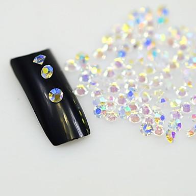 120pcs tiszta köröm strassz köröm művészet csillogó kristályok dekoráció eszközök diy nem gyorsjavítás strasszos díszítéssel üveg kövek