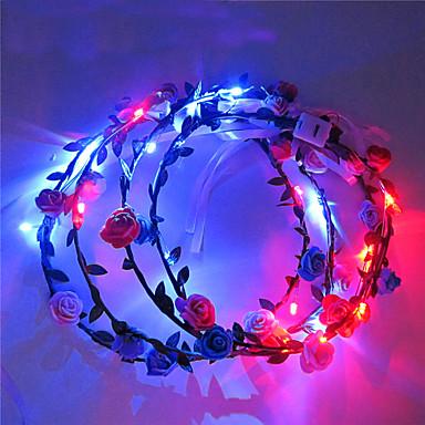 világít led virág koronát krizantém kibocsátó fejpánt led fejfedők halloween karácsony ünnep tételek