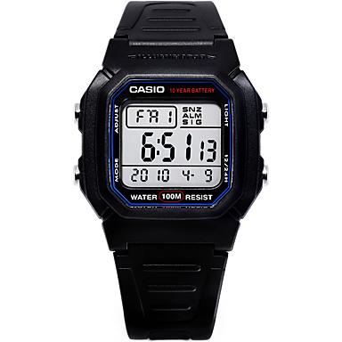 Casio للرجال ساعة رياضية ساعة كاجوال ساعة رقمية ياباني رقمي رزنامه مقاوم للماء ساعة التوقف مطاط فرقة كوول عادية أسود