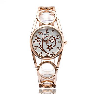 Kadın's Moda Saat Bilek Saati Gündelik Saatler Quartz / Alaşım Bant Günlük Havalı Zarif Gümüş Altın Rengi Gül Altın