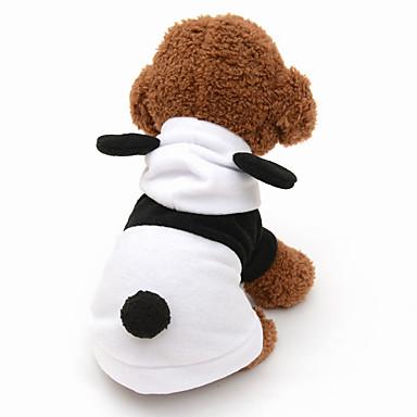 고양이 강아지 코스츔 후드 강아지 의류 귀여운 코스프레 동물 그레이 블랙/화이트