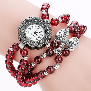 Xu™ Damskie Zegarek na nadgarstek Modny Kwarcowy Stop Pasmo Vintage Na co dzień Czerwony