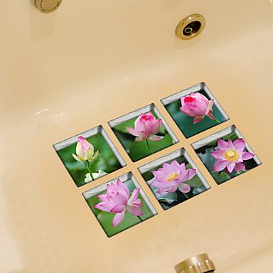Tuvalet Çıkartmaları - Uçak Duvar Çıkartmaları Botanik Banyo