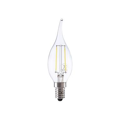 E14 LED Filaman Ampuller B 2 led COB Sıcak Beyaz Serin Beyaz 250lm 6500K AC 220-240V