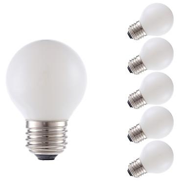 GMY® 6PCS 150 lm E26/E27 LED필라멘트 전구 G16.5 2 LED가 COB 밝기조절가능 따뜻한 화이트