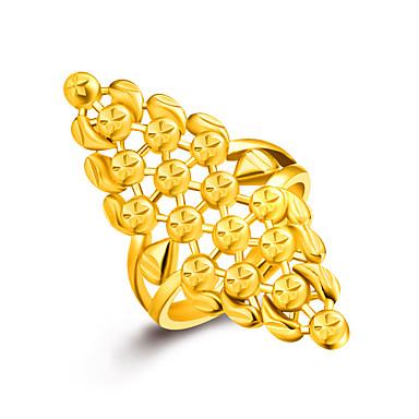 Damskie Złoty Pierscionek - Golden Pierścień Na Ślub Impreza Codzienny Casual