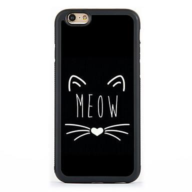 케이스 제품 Apple 아이폰5케이스 iPhone 6 iPhone 7 패턴 뒷면 커버 고양이 하드 알루미늄 용 iPhone 7 Plus iPhone 7 iPhone 6s Plus iPhone 6s iPhone 6 Plus iPhone 6