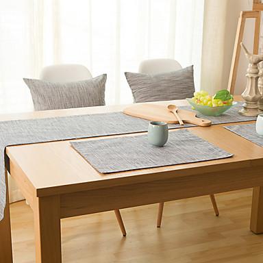 Prostokątny Jendolity kolor Bieżniki , Bielizna Materiał Hotel Stół Tabela Dceoration
