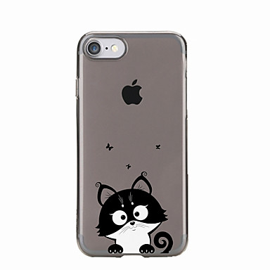 05460148 Per Morbido retro Custodia Custodia Transparente X iPhone 5 iPhone Per Fantasia disegno iPhone Gatto 6 iPhone TPU 7 8 iPhone per Apple xAwHxS