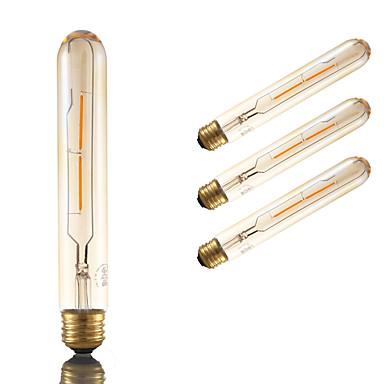 E26 LED Filaman Ampuller T 2 COB 160 lm Amber Kısılabilir Dekorotif AC 110-130 V 4 parça