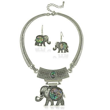 Naisten Korusetti Korvarenkaat Party Päivittäin Kausaliteetti Elefantti Circle Shape Animal Korvakorut Kaulakorut