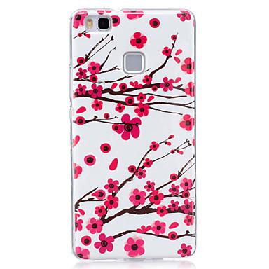 Για Θήκες Καλύμματα Λάμπει στο σκοτάδι IMD Με σχέδια Πίσω Κάλυμμα tok Λουλούδι Μαλακή TPU για Huawei Huawei P9 Lite Huawei P8 Lite