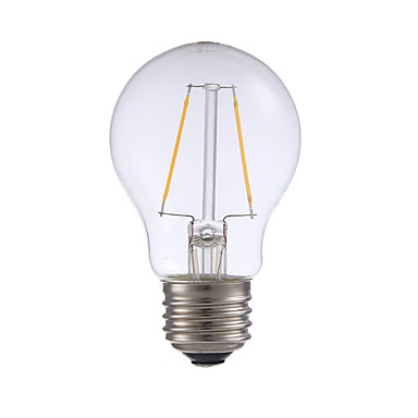 E26 LED필라멘트 전구 A17 2 LED가 COB 밝기조절가능 따뜻한 화이트 200lm 2700K AC 110-130V