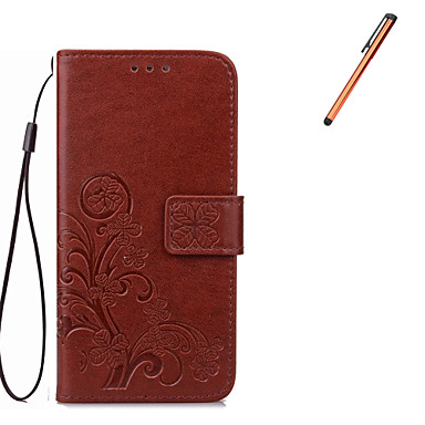 Mert Pénztárca / Kártyatartó / Állvánnyal / Flip Case Teljes védelem Case Virág Kemény Műbőr mert Samsung Note 5 / Note 4 / Note 3