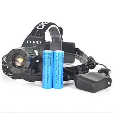 헤드램프 자전거 라이트 헤드라이트 LED 3500 lm 1 모드 Cree XM-L T6 줌이 가능한 앵글헤드 슈퍼 라이트 캠핑/등산/동굴탐험 사냥 여행 멀티기능