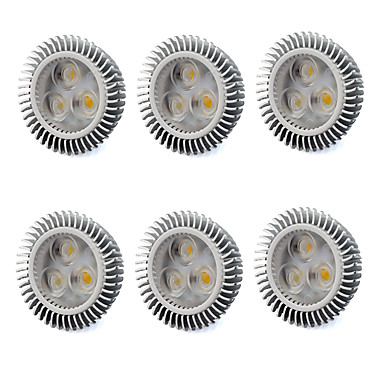 480 lm GU5.3(MR16) LED szpotlámpák MR16 3 led Nagyteljesítményű LED Meleg fehér Hideg fehér AC 220-240V