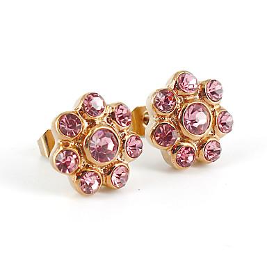 Női Beszúrós fülbevalók Kristály Strassz luxus ékszer Divat Rozsdamentes acél Hamis gyémánt Ékszerek Kompatibilitás Esküvő Parti Napi