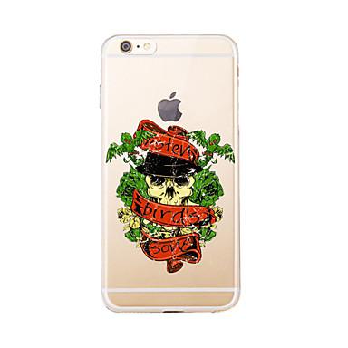 Varten Läpinäkyvä / Kuvio Etui Takakuori Etui Pääkallo Pehmeä TPU varten AppleiPhone 7 Plus / iPhone 7 / iPhone 6s Plus/6 Plus / iPhone