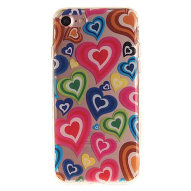 Για Θήκη iPhone 7 Θήκη iPhone 6 IMD tok Πίσω Κάλυμμα tok Καρδιά Μαλακή TPU για AppleiPhone 7 Plus iPhone 7 iPhone 6s Plus/6 Plus iPhone