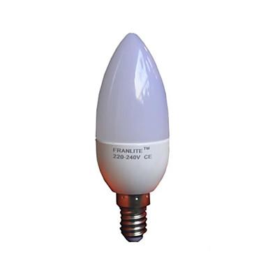 420lm E14 LED Mum Işıklar C35 8 LED Boncuklar SMD 3022 Sıcak Beyaz 220-240V / RoHs