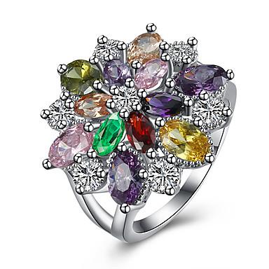 Pentru femei Zirconiu Cubic Zirconiu Articole de ceramică Oțel titan Diamante Artificiale Inel - Lux Pentru Petrecere Zilnic Casual