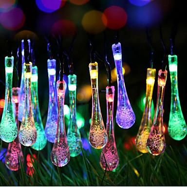 슈퍼 크기 갤럭시 물방울 빛의 색깔의 빛의 문자열 램프 2 미터 20 헤드 배터리 상자 2.3meter