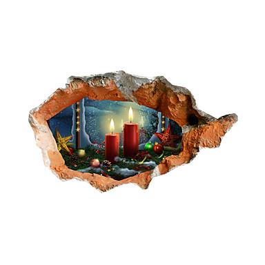 Tatil / 3D Duvar Etiketler 3D Duvar Çıkartması Dekoratif Duvar Çıkartmaları,pvc Malzeme Ev dekorasyonu Duvar Çıkartması