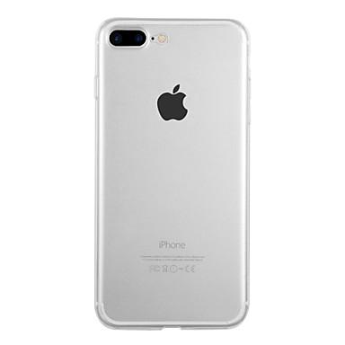 Недорогие Кейсы для iPhone X-Кейс для Назначение Apple iPhone X / iPhone 8 Pluss / iPhone 8 Ультратонкий Кейс на заднюю панель Однотонный Мягкий ТПУ