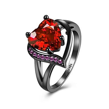 Gyűrűk Esküvő / Parti / Napi / Hétköznapi Ékszerek Cirkonium / Réz Női Gyűrű / Eljegyzési gyűrű 1db,6 / 7 / 8 Piros / Bíbor