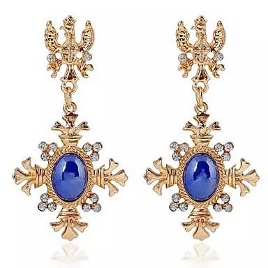 Damla Küpeler alaşım Mavi Mücevher Için Günlük 1 çift