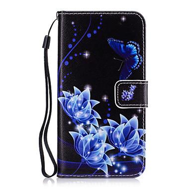 tok Για Samsung Galaxy Θήκη καρτών Πορτοφόλι με βάση στήριξης Πλήρης Θήκη Λουλούδι Σκληρή PU δέρμα για Grand Prime Core Prime Core 2