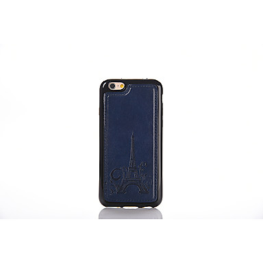 Varten Koristeltu Etui Takakuori Etui Eiffelin torni Pehmeä Tekonahka varten Apple iPhone 6s Plus/6 Plus / iPhone 6s/6 / iPhone SE/5s/5