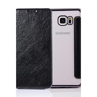 Käyttötarkoitus kotelot kuoret Flip Kokonaan peittävä Etui Yhtenäinen väri Kova PU-nahka varten Samsung Galaxy Note 5 Note 4