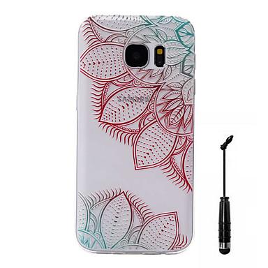 Için Temalı Pouzdro Arka Kılıf Pouzdro Çiçek Yumuşak TPU için Samsung S7 edge / S7