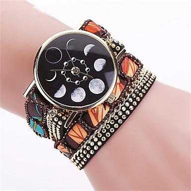 Bayanların Elbise Saat Moda Saat Bilek Saati Bilezik Saat Quartz Punk Renkli PU Bant Eski Tip Şeker Bohem İhtişam Halhal Havalı Günlük