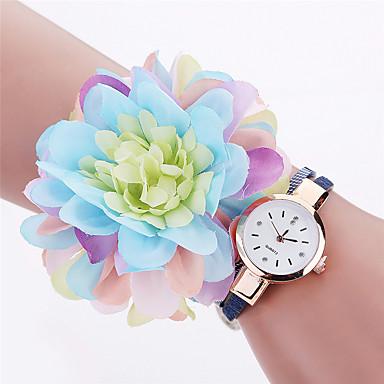 Xu™ Bayanların Moda Saat Bilek Saati Quartz PU Bant Eski Tip Çiçekli İhtişam Günlük Siyah Beyaz Mavi Kırmızı Beyaz Siyah Kırmzı Mavi