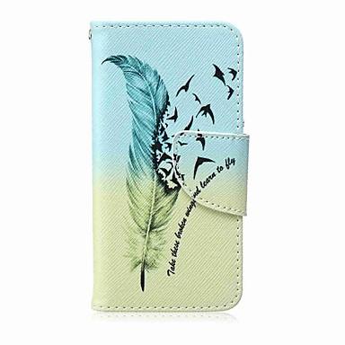 Malowanie piórkiem pu etui na telefon do apple itouch 5 6 ipod case / covers