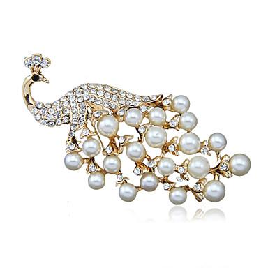 γυναικών κράμα μόδας / rhinestone / μαργαριτάρι παγώνι καρφίτσες κόμμα / καθημερινή κασκόλ κλιπ 1pc κοσμήματα αξεσουάρ