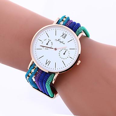 Damskie Zegarek na nadgarstek Modny Kwarcowy Stop Pasmo Vintage Na co dzień Artystyczny Niebieski Pomarańczowy Zielnony Złoty Różowy